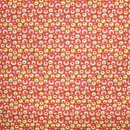 Pamuk, popelin, krugovi, 20856-2, crveno-zelena