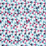 Baumwolle, Popeline, geometrisch, 20861-1, blau