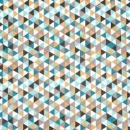 Baumwolle, Popeline, geometrisch, 20861-4, braun