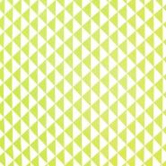 Baumwolle, Popeline, geometrsich, 20863-1, hellgrün - Bema Stoffe