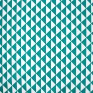 Bombaž, poplin, geometrijski, 20863-3, zelena