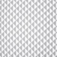 Baumwolle, Popeline, geometrisch, 20863-4, hellgrau