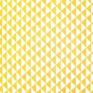 Baumwolle, Popeline, geometrisch, 20863-5, gelb