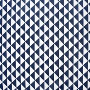 Pamuk, popelin, geometrijski, 20863-6, tamnoplava