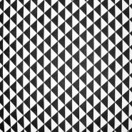 Bombaž, poplin, geometrijski, 20863-7, črna