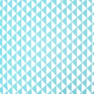 Baumwolle, Popeline, geometrisch, 20863-12, hellblau