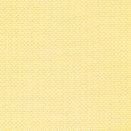Pamuk, popelin, geometrijski, 20865-1, žuta