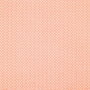 Baumwolle, Popeline, geometrisch, 20865-2, korallenrot - Bema Stoffe