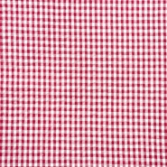 Tkanina, gužvanka, karo, 20881-5020, crvena