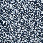 Jersey, Viskose, floral, 20538-008, dunkelblau
