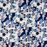 Jersey, Viskose, geometrisch, 20950-011, rosa-blau