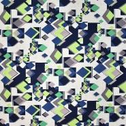 Jersey, Viskose, geometrisch, 20950-054, grün-blau