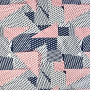 Jersey, Viskose, geometrisch, 20951-008, rotblau