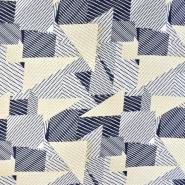 Jersey, Baumwolle, geometrisch, 20951-034, gelb-blau