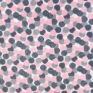 Gewebe, dünn, Kreise, 20970-013, rosa