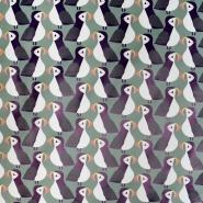 PVC für Regenmäntel, Tiere, 20983-3001, grün
