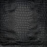 Kunstleder Krokodil, 20989-2329, schwarz