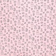 Sweatshirtstoff, 21068-001, rosa