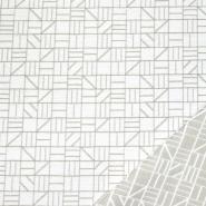 Dekostoff, Samt, Stainstop, geometrisch, 21061-15, weiß