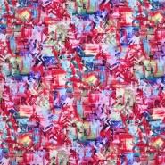 Gewebe, Viskose, abstrakt, 21077-003, rot