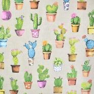 Deko, tisak, kaktusi, 21012