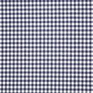 Dekostoff, Karo, 21031, dunkelblau
