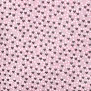 Baumwolle, Popelin, Herzen, 21081-002, rosa