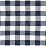 Dekostoff, Karo, 21033-3, dunkelblau