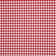 Dekor tkanina, karo, 21035, crvena