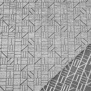 Dekostoff, Samt, Stainstop, geometrisch, 21061-90, grau