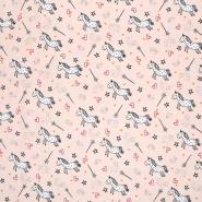 Jersey, pamuk, životinjski, 19945-004, ružičasta