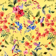 Jersey, pamuk, digital, cvjetni, 21095-570, žuta