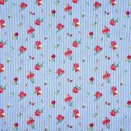 Baumwolle, Popeline, Elastan, floral, 21099-630