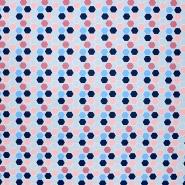 Pamuk, popelin, geometrijski, 21084-004, plava