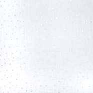 Musselin, doppelt, Punkte, 21100-001, weiß