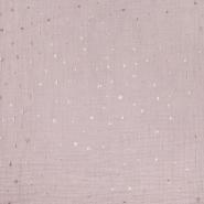 Musselin, doppelt, Punkt, 21100-091, rosa