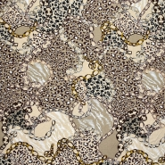 Jersey, Viskose, Tiere, 21112-090, braun