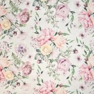 Dekostoff, Druck, floral, 21143