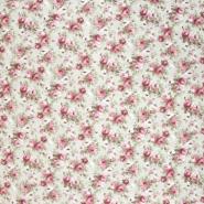 Dekostoff, Druck, floral, 21151, rosa