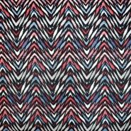 Umjetna koža Cesta, 21177-2, crveno-plava