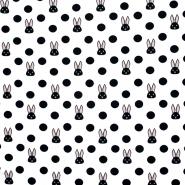 Jersey, pamuk, točke, 21191-02, bijela