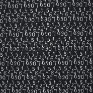 Jersey, pamuk, brojevi, 21194-20, crna