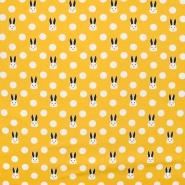 Jersey, pamuk, točke, 21191-08, žuta