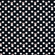 Jersey, pamuk, točke, 21191-20, crna