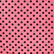 Jersey, pamuk, točke, 21191-13, ružičasta