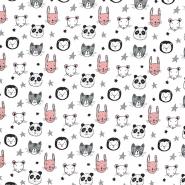 Jersey, Baumwolle, für Kinder, 21197-02, weiß - Bema Stoffe