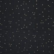 Tetra tkanina, dvostruka, točke, 20757-4, crna