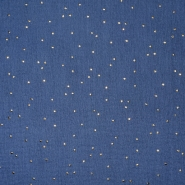 Musselin, doppelt, Punkte, 20757-7, dunkelblau