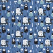 Jersey, bombaž, otroški, 21201-80358, modra
