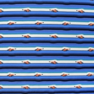 Jersey, pamuk, pruge, 21206-63216, plava